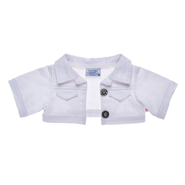 White Denim Jacket, , hi-res