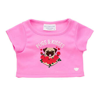 Online Exclusive Pugs and Kisses T-Shirt - Build-A-Bear Workshop®