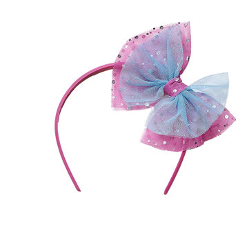 Sparkle Bow Headband, , hi-res