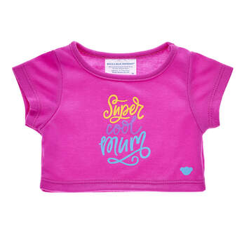 "Teddy bear t-shirt with the words ""Super Cool Mum"""