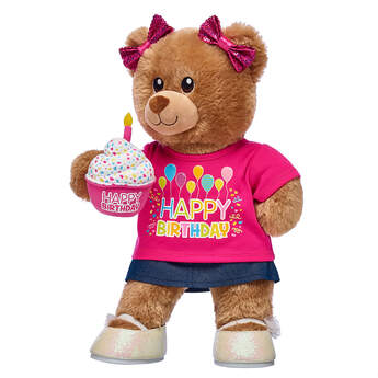 Birthday Treat Bear Pink Cupcake Gift Set, , hi-res