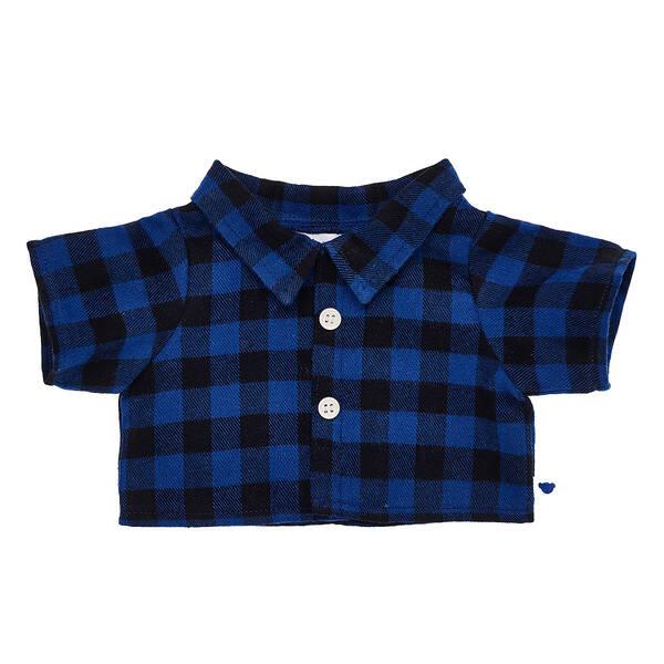 Blue Buffalo Check Shirt - Build-A-Bear Workshop®