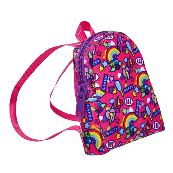 Pink Rainbow Backpack, , hi-res
