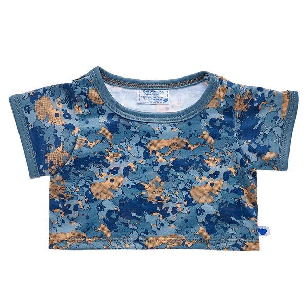 Blue & Gold Camo T-Shirt, , hi-res