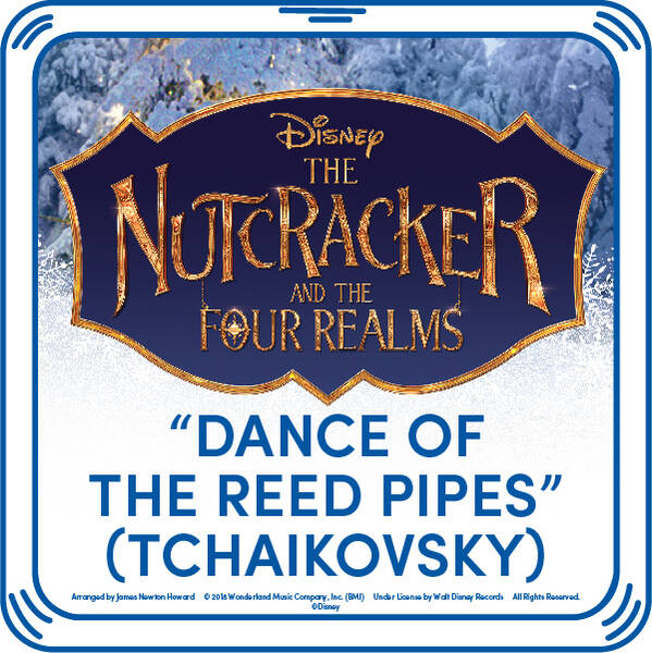 "The fate of the Four Realms is uncertain, but adding this ""Disney Dance of the Reed Pipes"" song to your furry friend is a fun way to add some harmony to the Christmas season! Dance and twirl all season long by adding this beautiful song to your furry friend. You'll hear the music when you press your teddy bear's paw!"