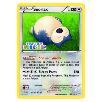 Build-A-Bear Workshop Exclusive Snorlax Pokémon TCG Card - Build-A-Bear Workshop®