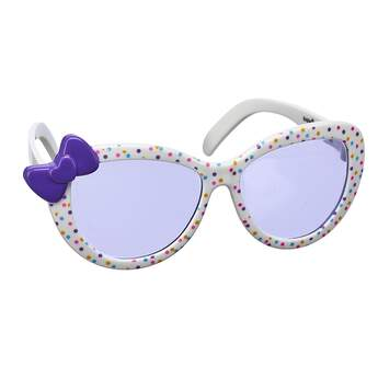 These plastic white sunglasses for stuffed animals have brightly coloured polka dots with a cute purple bow on the side for extra flair. Outfit a furry friend online to make the perfect gift. Make your own your own stuffed animal online with our Bear Builder or visit a store near you.