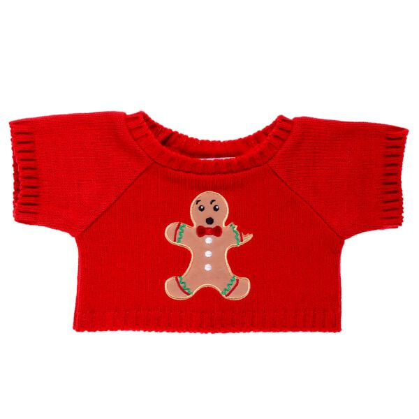 Red Gingerbread Man Sweater, , hi-res