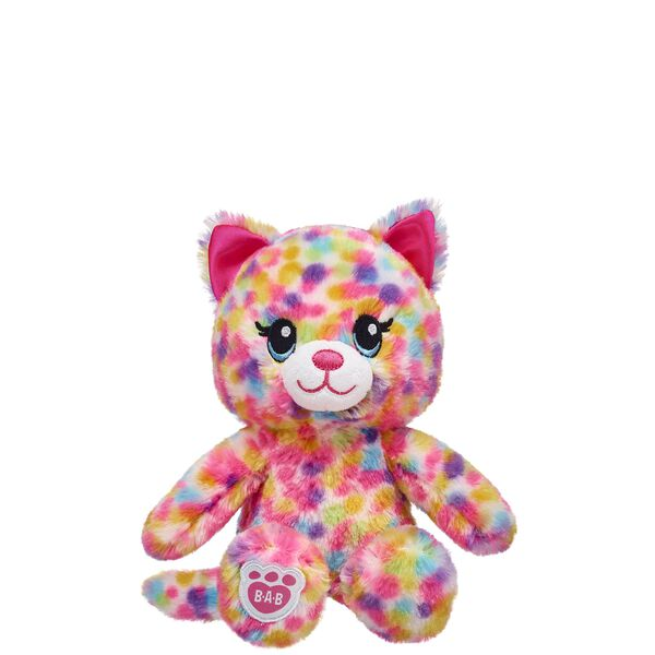 This mini stuffed rainbow cat can be held by your full-sized Rainbow Friends stuffed animals. You can even carry around your buddy in special mini backpacks! Outfit this furry friend online to make the perfect gift. Shop online or visit a store near you!