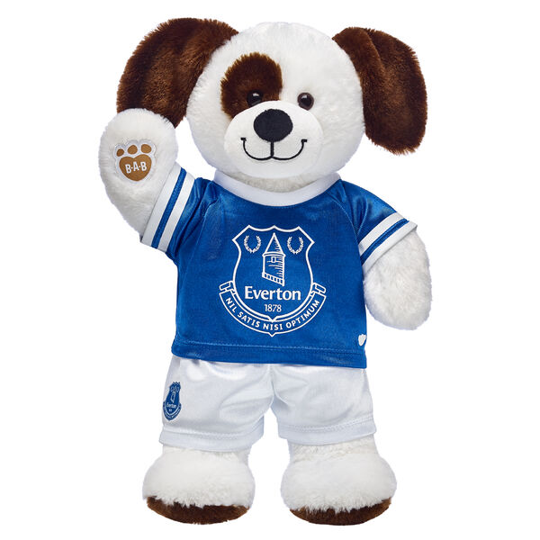 Goal! This cuddly stuffed animal gift set is a fun way to score with the football fan in your life! Ruff n' Tumble Puppy is ready to play on the pitch with its Everton football kit. It's a great gift for sports fans!