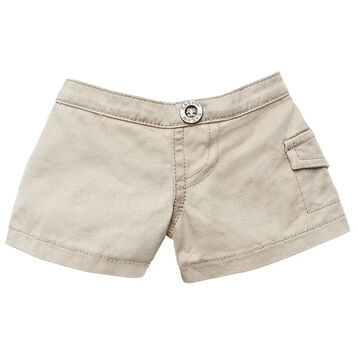 These khaki shorts go with just about anything. Will your animal keep a little charm or lucky coin in the pocket?