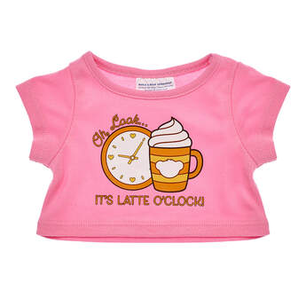 Online Exclusive Latte O'Clock T-Shirt - Build-A-Bear Workshop®
