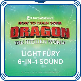 Light Fury 6-in-1 Sound - Build-A-Bear Workshop®