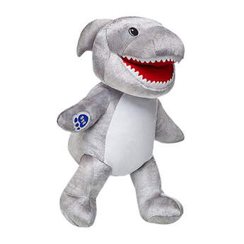 Bite into fun with Toothy Shark! This rockin' silver sea creature has a mouth full of teeth. Don't worry, this shark just wants to be your friend. Personalise it with outfits and accessories for the perfect unique gift.