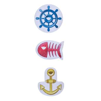 All aboard! Your furry friend can set sail with this fun ocean-inspired accessory set. This three-piece plush set consists of a ship's wheel, anchor and fish skeleton. Outfit a furry friend online to make the perfect gift. Free shipping on orders over $45. Shop online or visit a store near you!