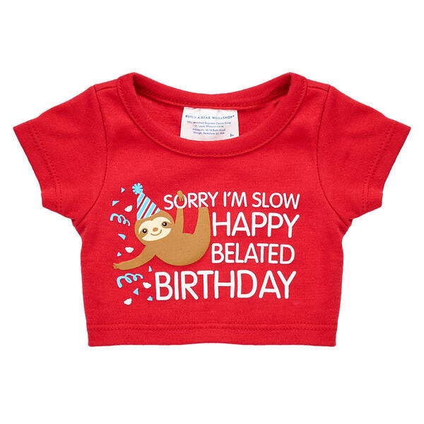 Belated Birthday T-Shirt - Build-A-Bear Workshop®