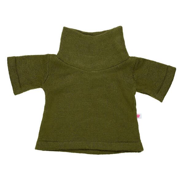 Online Exclusive Hunter Green Sweater Dress - Build-A-Bear Workshop®