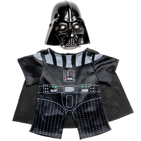 Turn your teddy bear into one of the most powerful Jedi's in the Star Wars™ with this 3 pc. The Darth Vader costume set includes signature helmet & suit.