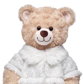 White Faux Fur Coat, , hi-res