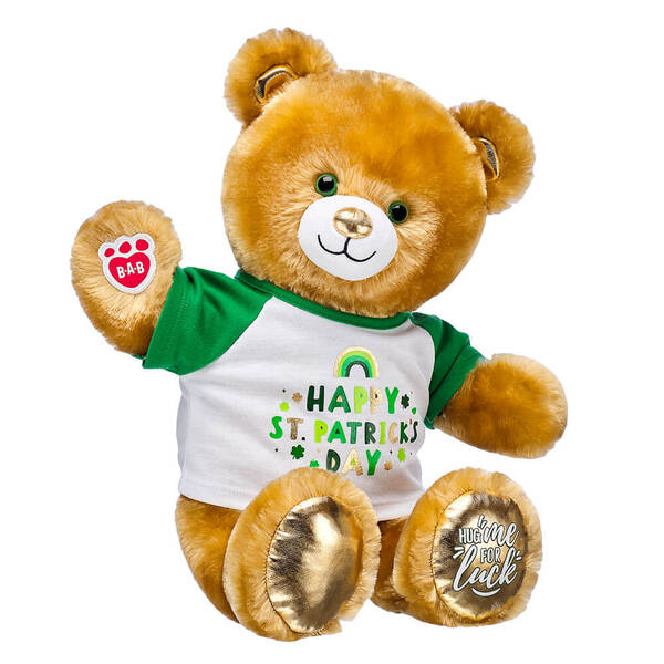 Online Exclusive Lucky Hugs Bear St. Patrick's Day Gift Set, , hi-res