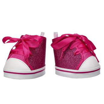 These Fuchsia Sparkle High Tops are a sparkly look that never goes out of style! Outfit a furry friend online to make the perfect gift. Free Shipping on orders over $45.