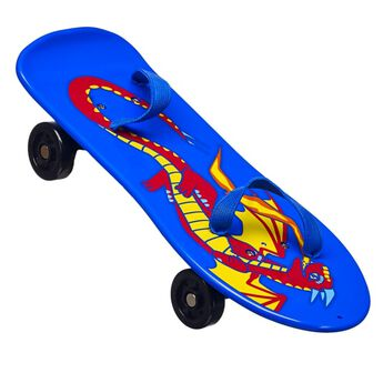 Let your furry friend cut loose at the skate park on this totally awesome dragon skateboard! Slip your furry friend's feet into the elastic bands on the blue skateboard with its red and yellow dragon design and roll to glory!