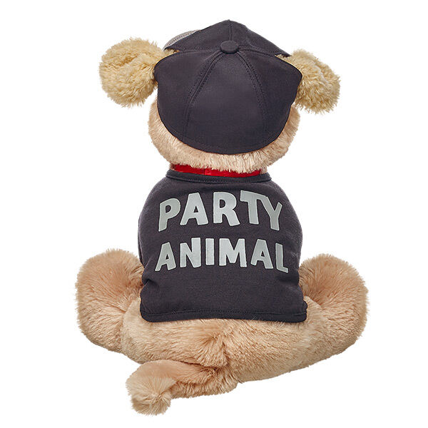 Calling all party animals! Dress your Promise Pet in this black Party Animal outfit with coordinating hat.