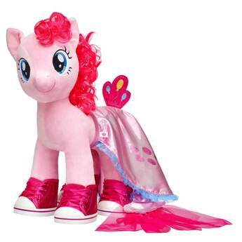 Take your Pinkie Pie furry friend on faraway adventures with this pretty sea pony cape! This glittery pink cape has light blue trim and pink tulle at the end for the tail. It's the perfect accessory for underwater adventures! MY LITTLE PONY and all related characters are trademarks of Hasbro and are used with permission.  2017 Hasbro. All Rights Reserved.