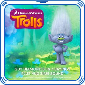 Sparkle time! Add Guy Diamond's sounds and sayings from DreamWorks Trolls to your furry friend.DreamWorks Trolls © 2016 DreamWorks Animation LLC. All Rights Reserved.