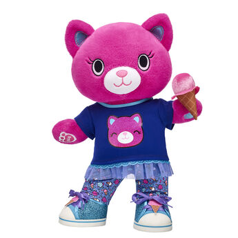 This colourful Kabu kitten is always in motion! Catlynn looks cute as can be in this Kabu gift set. Her skegging outfit and cotton candy shoes and wristie provide a sweet look. Choose this active, fitness-loving kitty for a PAWsome gift! <p>Price includes:</p>  <ul>    <li>Kabu™ Catlynn</li>     <li>Kabu™ Catlynn Skegging Set 2 pc. </li>    <li>Kabu™ Ice Cream Sneakers </li>    <li>Kabu™ Ice Cream Cone Wristie</li> </ul>