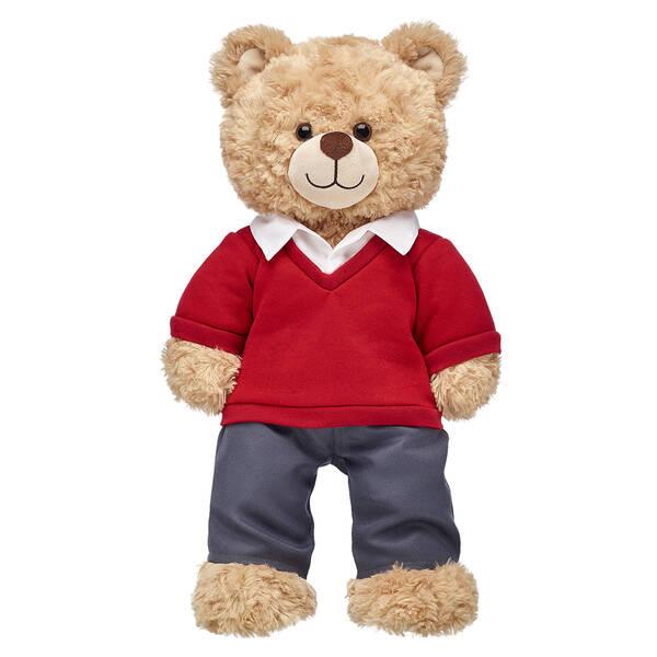 Red & Grey School Uniform for Stuffed Animals | Build-A-Bear®