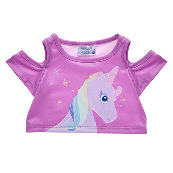 Just like magical unicorns are one of a kind, this sparkly tee shirt for stuffed animals is sure to make your furry friend stand out. Outfit a furry friend online to make the perfect gift. Make your own your own stuffed animal online with our Bear Builder or visit a store near you.