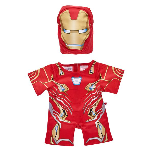 Help save the universe by dressing your furry friend in this two-piece Iron Man costume for stuffed animals! Outfit a furry friend online to make the perfect gift. Free shipping on orders over $45. Make your own stuffed animal online with our Bear Builder or visit a store near you.