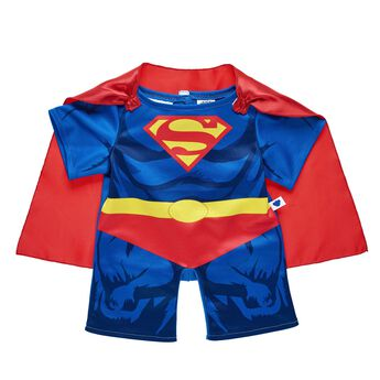 "Your furry friend can protect Metropolis in this two-piece Superman costume. The blue costume features Superman's iconic ""S"" on the chest and includes a red cape. Start an adventure today! ™ & © DC Comics. (s13)"
