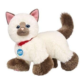 Ragdoll cats get their name from their tendency to happily flop in your arms. They love to roll on their backs and have their tummies tickled—and the Promise Pets™ Ragdoll Kitty plush is no different! Make your own your own ragdoll cat stuffed animal online with our Bear Builder or visit a store near you.