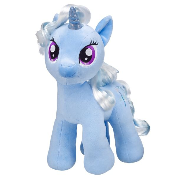 Online exclusive! The great and powerful Trixie is a traveling magician unicorn. Personalise her with clothing and accessories for the perfect unique gift. MY LITTLE PONY and all related characters are trademarks of Hasbro and are used with permission.© 2014 Hasbro. All Rights Reserved.