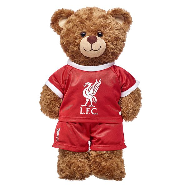 Cheer on Liverpool by dressing your furry friend in this Liverpool Football Club kit. This red kit includes a jersey and a matching pair of shorts.
