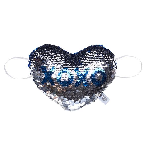 Sequin Stuffed Animal Heart Plush Wrist Accessory, , hi-res