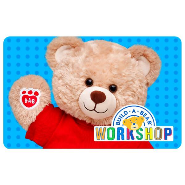 Give the gift of FUN! With a Build-A-Bear Workshop® gift card, it's easier than ever to give the gift of a personalised furry friend. Choose the amount you would like loaded onto this plastic gift card and send some happy hugs someone's way.
