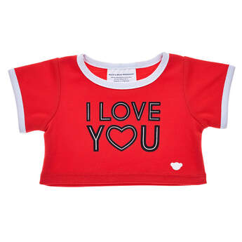 Red I Love You T-Shirt - Build-A-Bear Workshop®