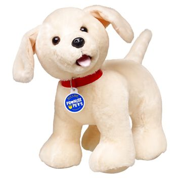 Labrador Retrievers are not only great at retrieving, but have a nose for adventure and mischief. Watch out- they love to give sloppy kisses. Personalise this pooch with outfits and accessories to make the perfect unique gift.