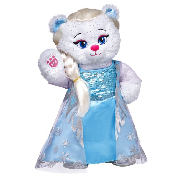 Elsa Inspired Bear Set 4 pc., , hi-res