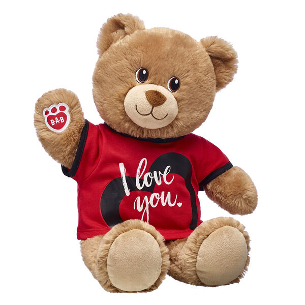 brown teddy bear with i love you t shirt valentines day gift bundle