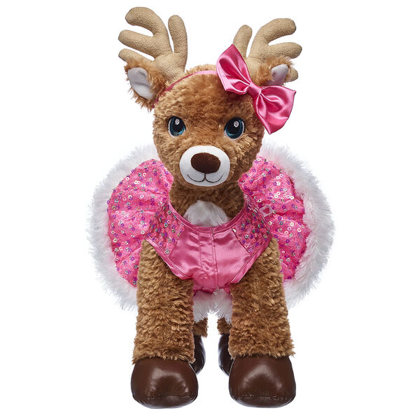 Pink Sequin Reindeer Dress & Bow Set 2 pc., , hi-res