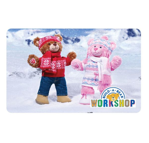Make winter wishes come true with a gift card of FUN from Build-A-Bear Workshop!