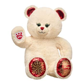 Make a holiday tradition with Christmas Joy Bear! With a classic look and festive paw pads, this online exclusive Christmas teddy bear is the perfect way to give joy this season!