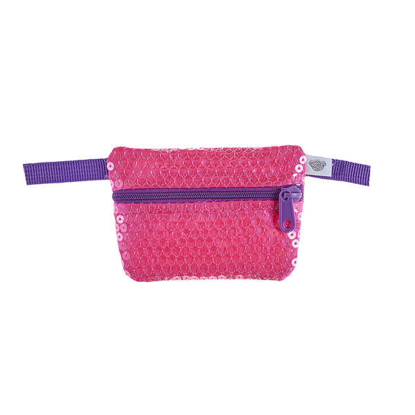Your furry friend can carry their belongings in style with this cute sequin waist pack for stuffed animals!