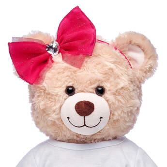 Fuchsia Heart Gem Headband - Build-A-Bear Workshop®