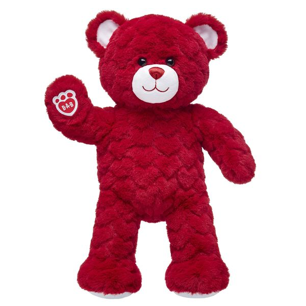 Red Hot Red Hearts Bear, , hi-res