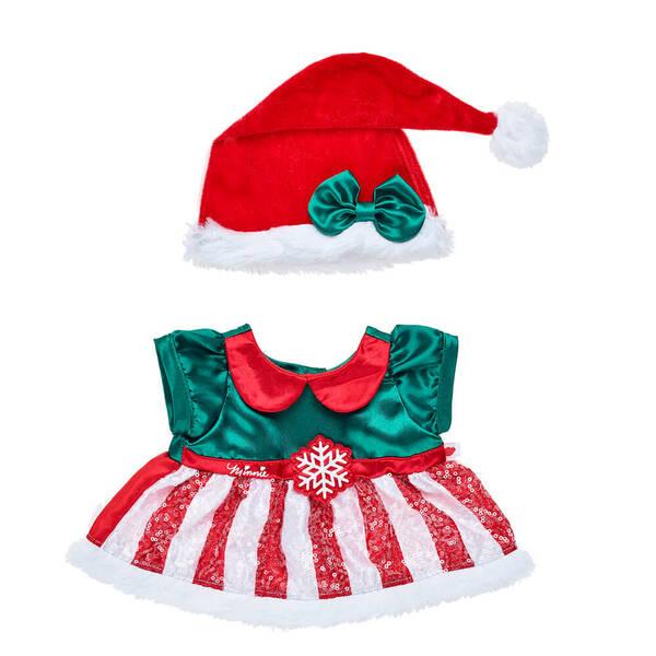 Online Exclusive Disney Minnie Mouse Christmas Dress - Build-A-Bear Workshop®